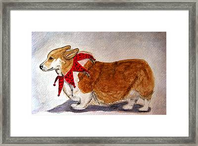 Dashing Through The Snow Surely You Jest Framed Print
