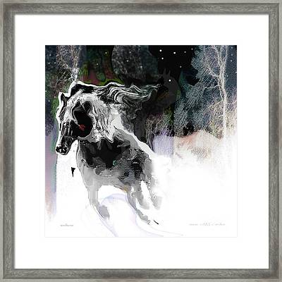 Dashing Through The Snow Framed Print
