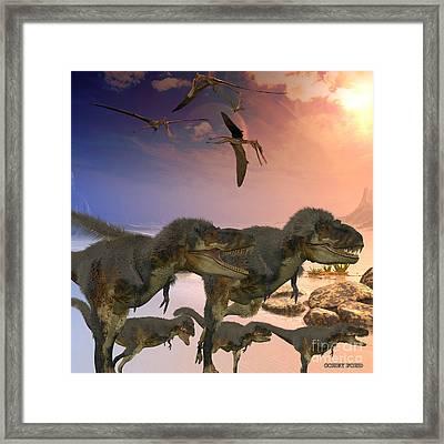 Daspletosaurus Dinosaurs Framed Print