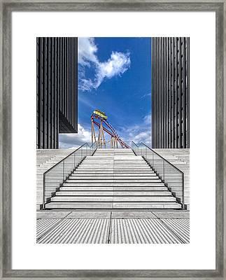 Da?sseldorf / Medienhafen Framed Print by Herbert A. Franke