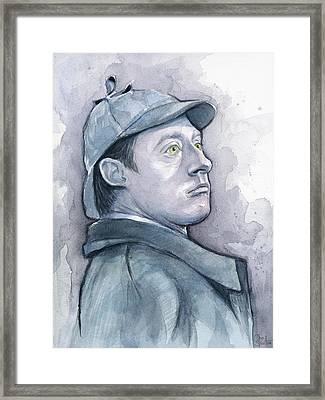Data As Sherlock Holmes Framed Print by Olga Shvartsur