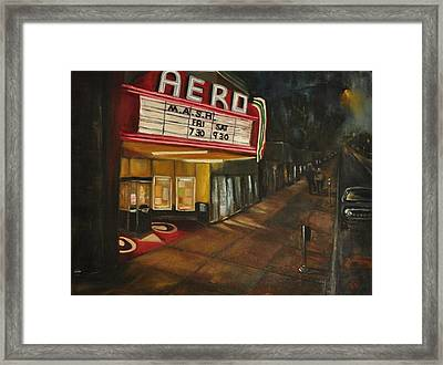 Framed Print featuring the painting Date Night by Lindsay Frost