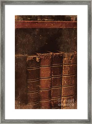 Dated Textbooks Framed Print