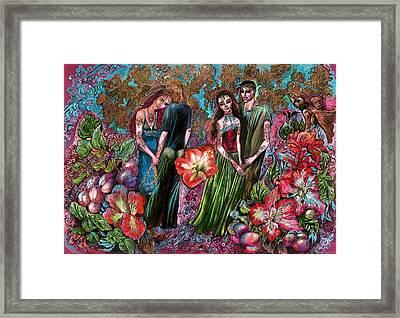 Dating In Flower Valley Framed Print