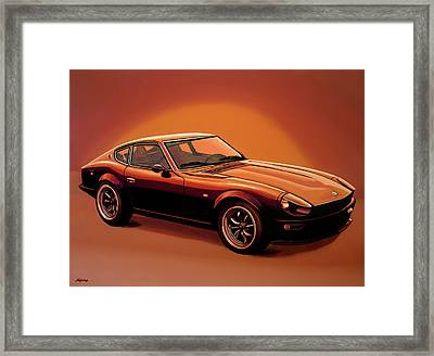 Datsun 240z 1970 Painting Framed Print by Paul Meijering
