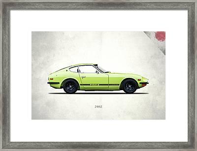 Datsun 240z Framed Print by Mark Rogan