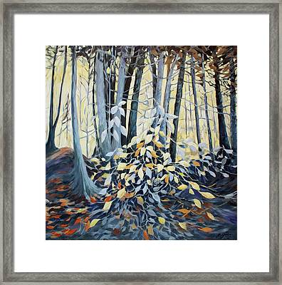 Framed Print featuring the painting Natures Dance by Joanne Smoley