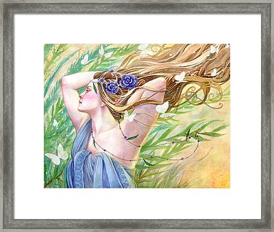 Daughter Of The King Framed Print by Sara Burrier