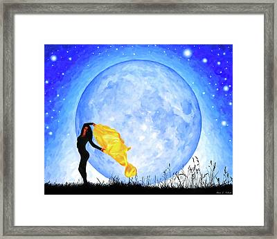 Daughter Of The Moon Framed Print