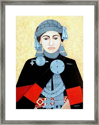 Daughter Of The Sun Framed Print by Madalena Lobao-Tello