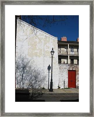 Dauphine Red Door Framed Print by Tom Hefko
