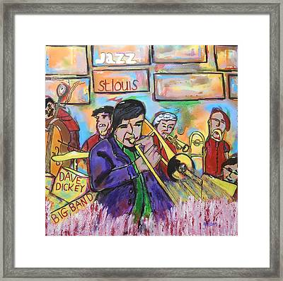 Dave Dickey Big Band Framed Print