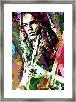 Dave Gilmour Dark Side Framed Print