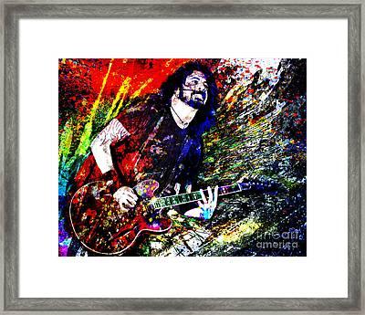 Dave Grohl Art  Framed Print by Ryan Rock Artist