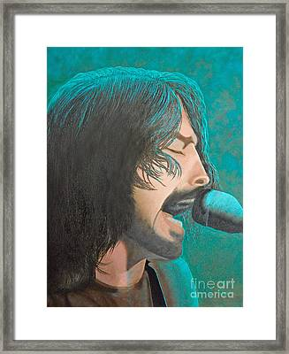 Dave Grohl Of The Foo Fighters Framed Print by Cindy Lee Longhini