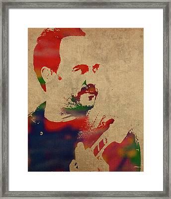Dave Matthews Band Watercolor Portrait Framed Print