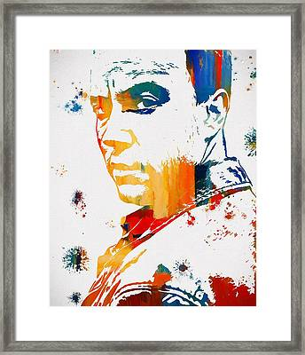 Dave Matthews Paint Splatter Framed Print by Dan Sproul