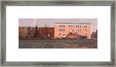 Dave Matthews Pink Warehouse Framed Print by Edward Thomas