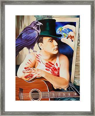 Dave Matthews-raven Framed Print by Joshua Morton
