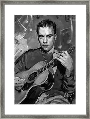 Dave Matthews Framed Print by Ylli Haruni