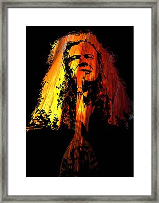 Dave Mustaine Framed Print by Michael Bergman