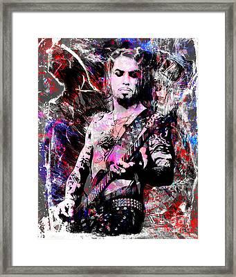 Dave Navarro Art  Framed Print