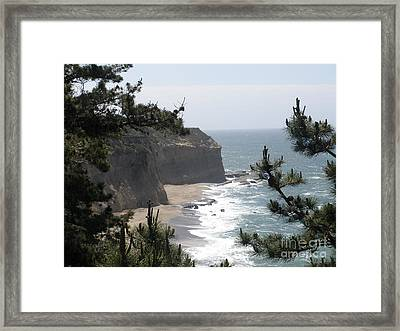 Davenport Beach Framed Print