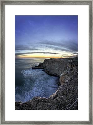 Davenport Bluffs At Sunset Framed Print