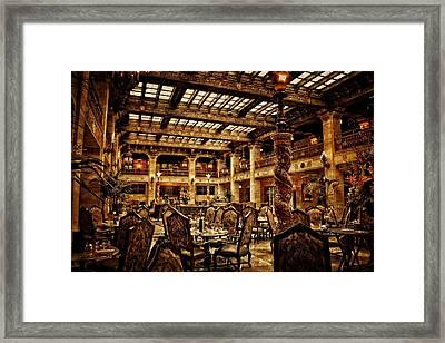 The Historic Davenport Hotel  Framed Print
