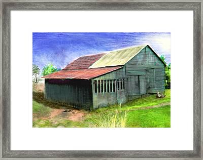 Dave's Barn Framed Print