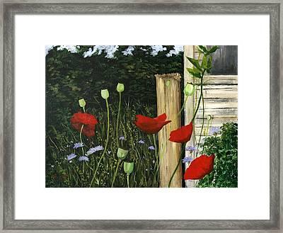 Dave's Garden Framed Print