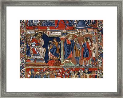 David And Saul Framed Print by Granger