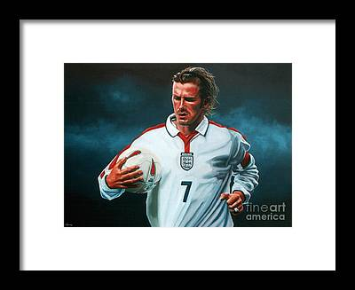David Beckham Framed Prints