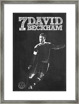 David Beckham Framed Print by Semih Yurdabak