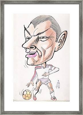 David Beckham Framed Print by Tanmay Singh