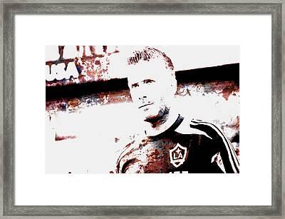 David Beckham The Legend Framed Print by Brian Reaves