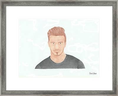 David Beckham Framed Print by Toni Jaso