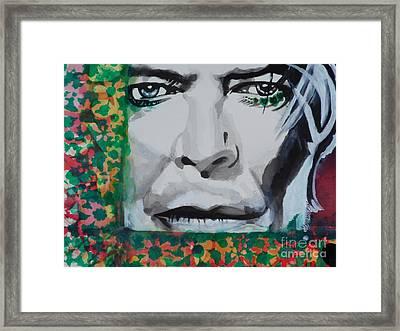 David Bowie 02 Framed Print by Chrisann Ellis