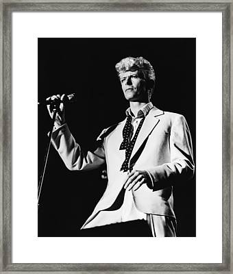 David Bowie 1983 Us Festival Framed Print by Chris Walter
