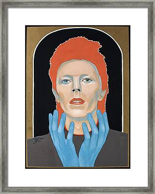 David Bowie 3 Framed Print by Jovana Kolic