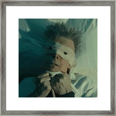 David Bowie Framed Print by Afterdarkness