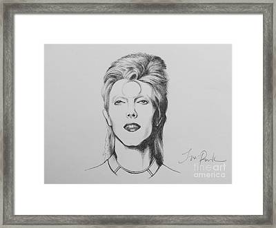 David Bowie And Heroes Framed Print