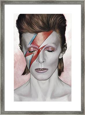 David Bowie Artwork 1 Framed Print by Sheraz A
