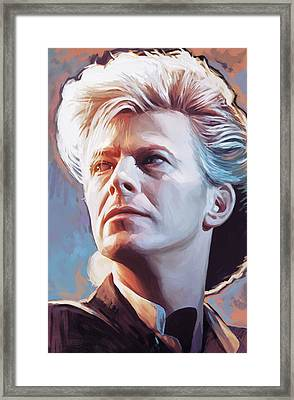 Framed Print featuring the painting David Bowie Artwork 2 by Sheraz A