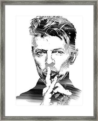 David Bowie Bw Framed Print by Mihaela Pater