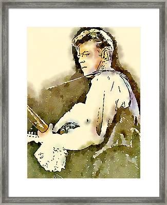 David Bowie By John Springfield Framed Print by John Springfield