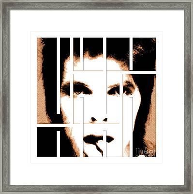 David Bowie / Changeling  Framed Print by Elizabeth McTaggart