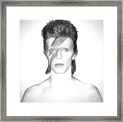 David Bowie Charcoal  Framed Print