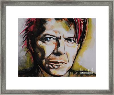 David Bowie Framed Print by Chrisann Ellis