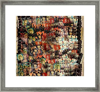 David Bowie Collage Mosaic Framed Print by Dan Sproul